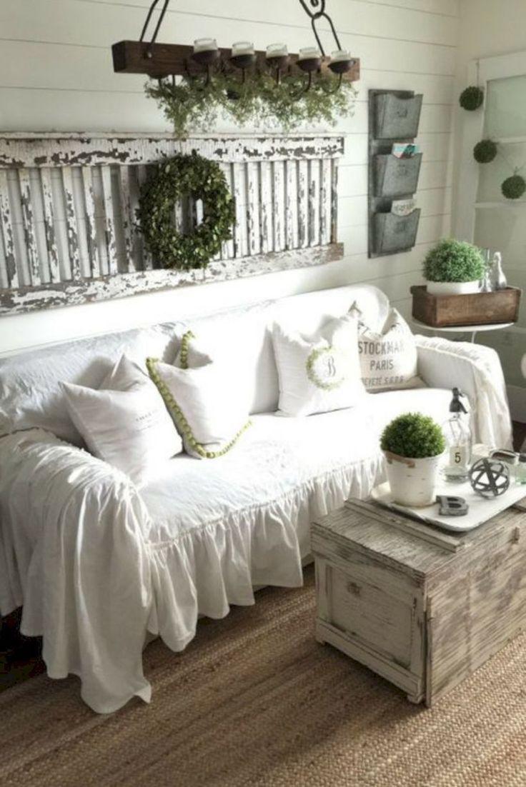 Shabby Chic Farmhouse Living Room Decor Ideas Home Decor