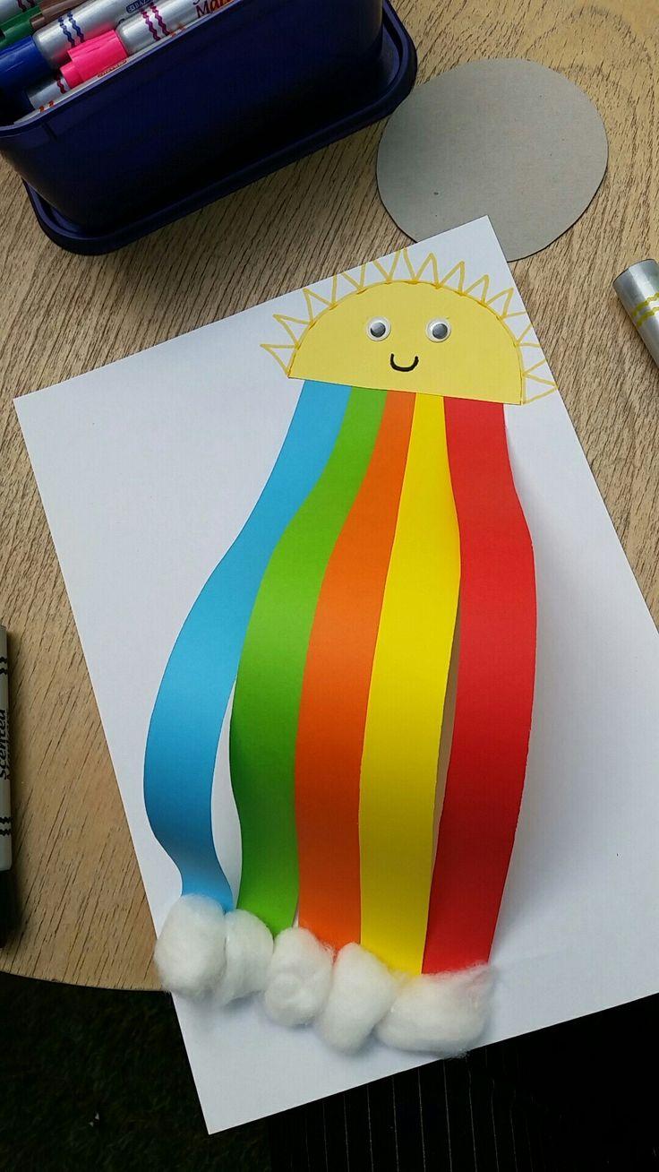 Rainbow art and craft for kiddies