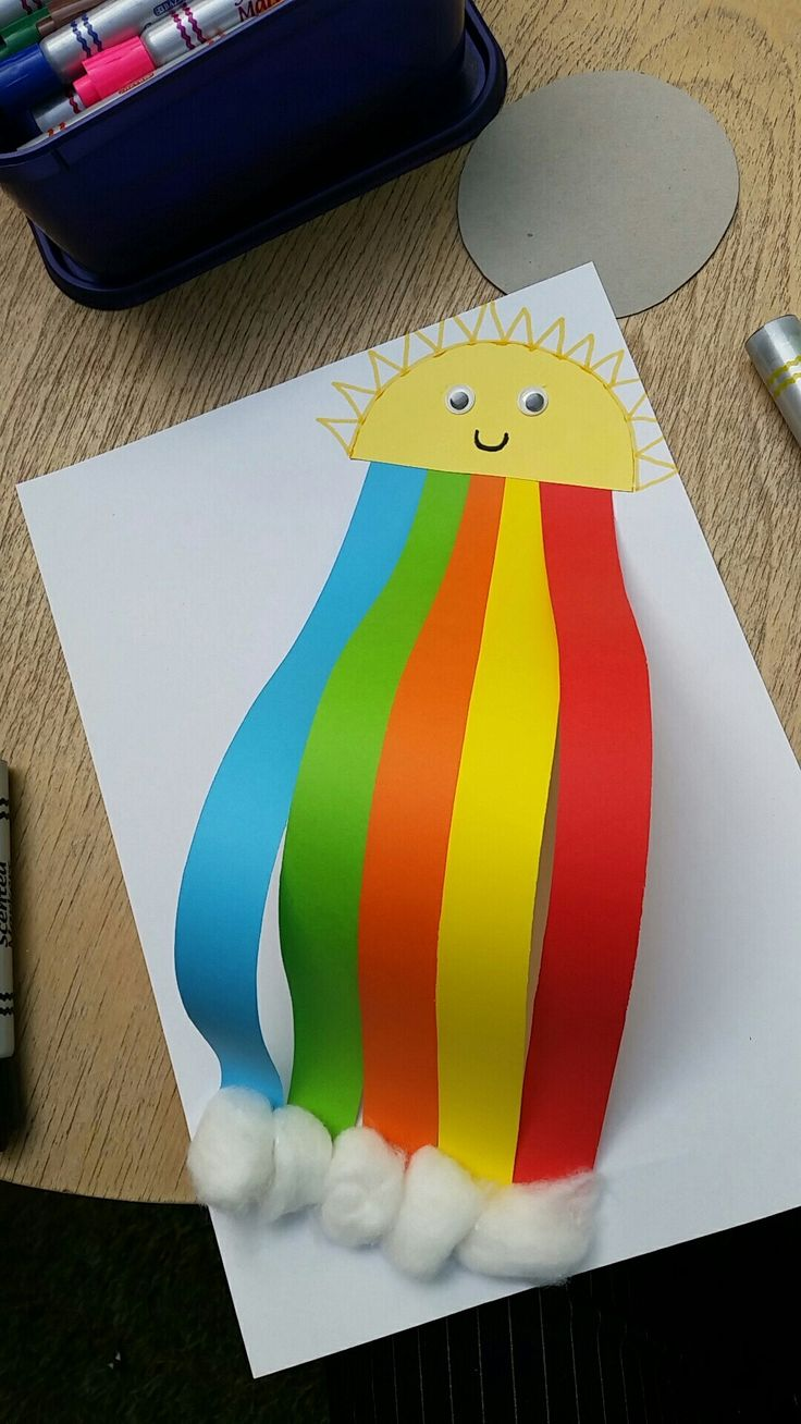 Rainbow art and craft for kiddies