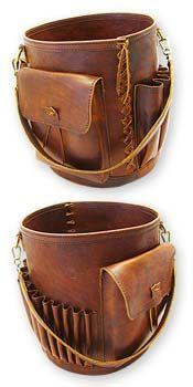 Leather Knitting Basket