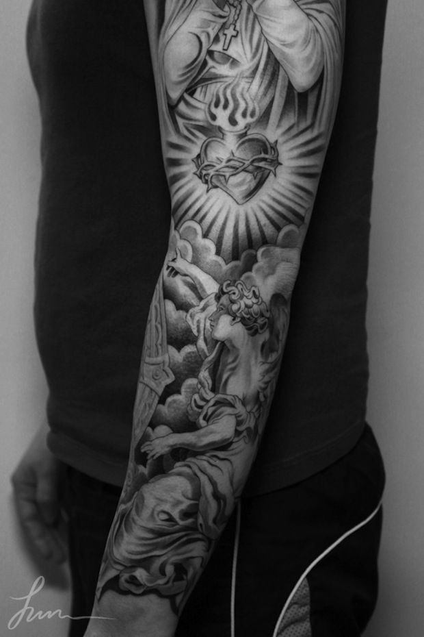 43 best jun cha images on pinterest sleeve tattoos arm for Inked temptations tattoo studio