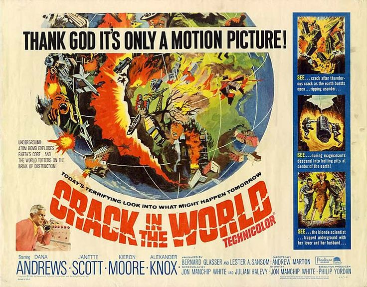 Crack in the world film poster 1965 1965 pinterest