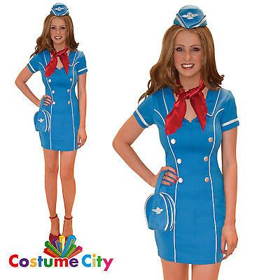 #Adult womens frequent #flyer flight #attendant fancy dress stewardess costume,  View more on the LINK: http://www.zeppy.io/product/gb/2/391377242509/
