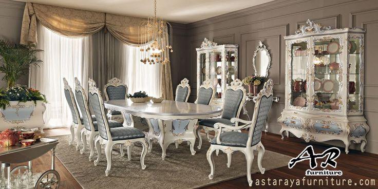 Set Meja Makan Mewah Modern Terbaru Set Meja Makan Mewah Modern Terbaru merupakan salah satu produk furniture indoor yang diproduksi oleh Asta Raya Furniture Jepara dengan desain ukiran modern yang…