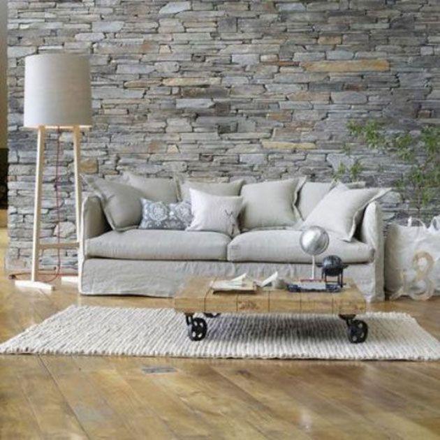 Paredes de piedra decorativa para interior. 30 fotos e ideas | Mil Ideas de Decoración #decoración