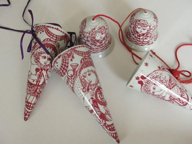 Björn Wiinblad Christmas cornetto decorations