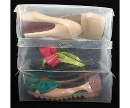 Plastic shoe box from MyXLshop.com I need this for my shoe collection. Looks better then having different boxes on the shelves with black marker written on them.