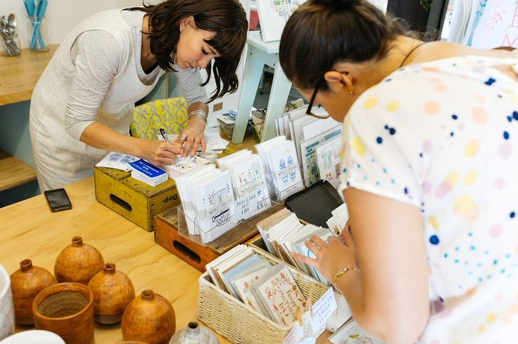 The Neighbourhood Market- work by Flora Waycott and Tamago Ceramics.