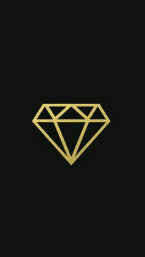Black And Gold Diamond H Pinterest Iphone Wallpaper Wallpaper