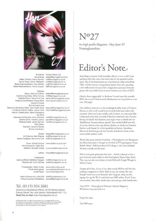 15 best Credits Page / Letter from the Editor images on