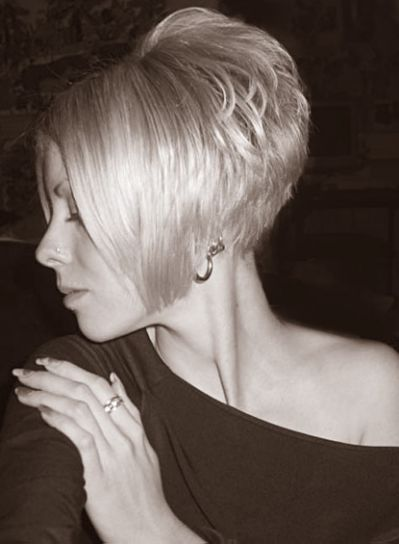 Short Stacked Angled Bob Haircuts
