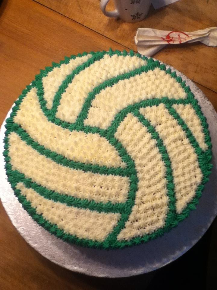 My Homemade Volleyball Cake Here We Glow Pinterest