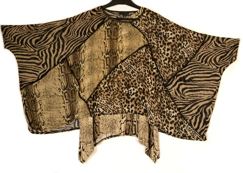 Jean Marc Philippe New Season Funkiest Animal Print Two Piece Tunic & Overlay Top