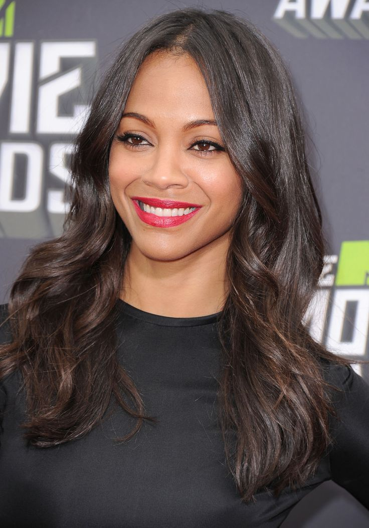 Actress and model Zoe Saldana ...classy american Hairstyles...