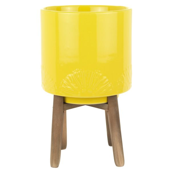 Image For Sainsbury S Home Havana Yellow Planter From Sainsbury S Yellow Planter Sainsburys Home Small Lanterns