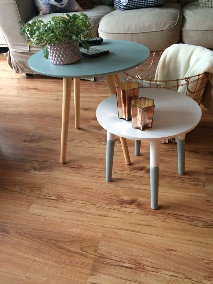 Gepimpte tafeltjes tafeltjes gekocht bij action en xenos for Xenos meubels