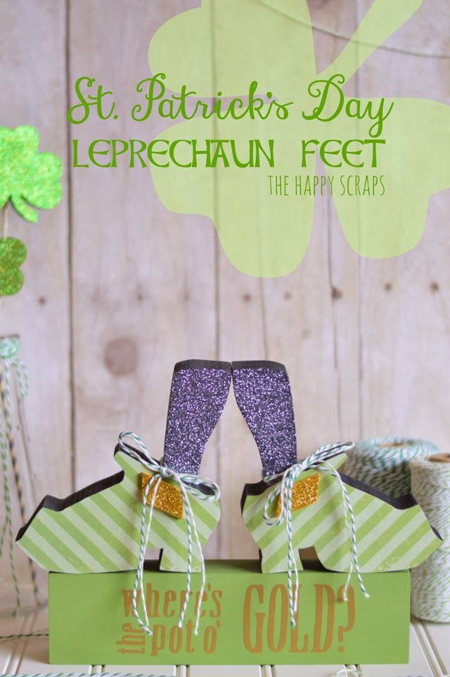 Make yourself some of these Fun, Lucky Leprechaun Feet. See these at www.thehappyscraps.com