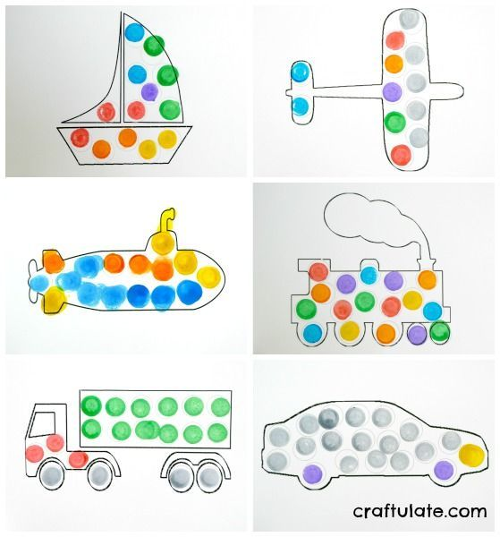 6 Transportation Dot Marker Printables