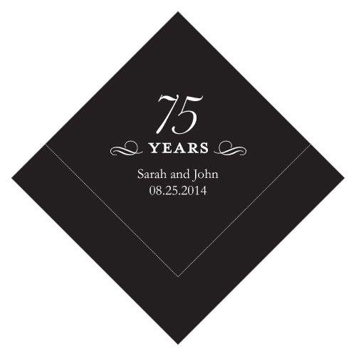 100 Personalized 75th Birthday Luncheon Napkins | eBay