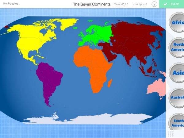 33 best puzzles images on pinterest puzzle puzzles and riddles label the continents gumiabroncs Choice Image