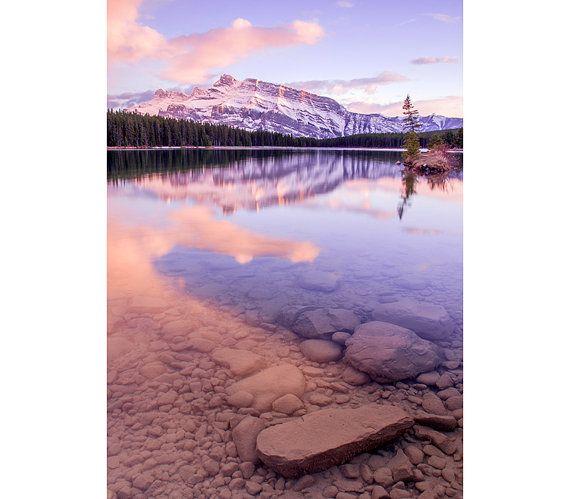 Mountain Photograph - Two Jack Lake, Mount Rundle