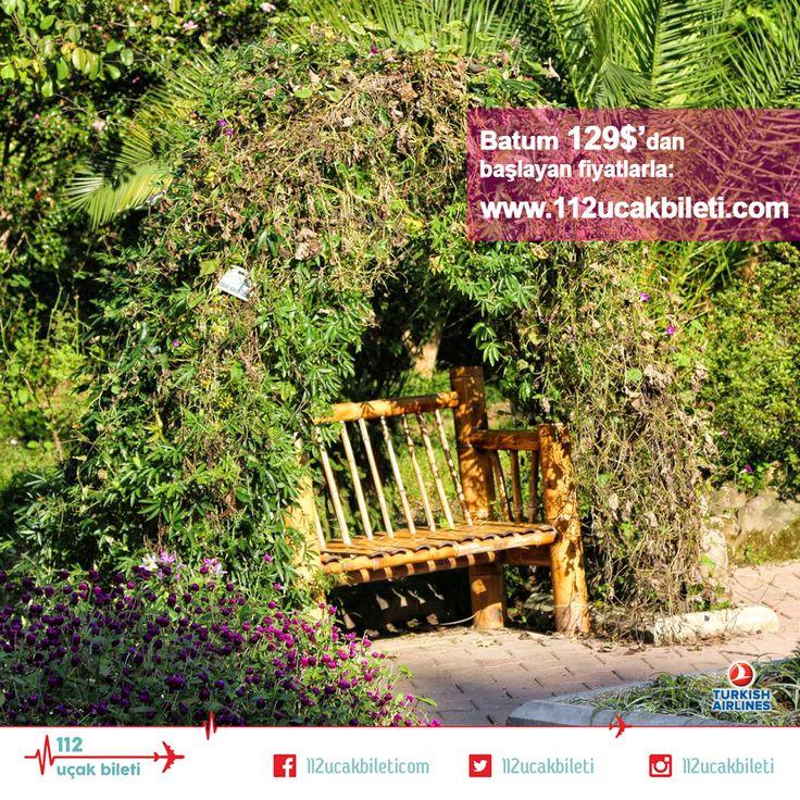 #Batum'da ister denizin tadını çıkarın, ister dünyanın en büyük parklarından biri olan #Botanik bahçeyi ziyaret edin. Üstelik #vizesiz! #uçakbileti