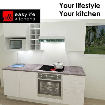 This offer ends in 2 days so you had better hurry on down to Easylife Kitchens George. This kitchenette with all the trimmings and fittings as seen here, including delivery and installation for an incredible price of R21999.00. Style has never been so affordable. #lifestylekitchens #promotion #Ilovemykitchen