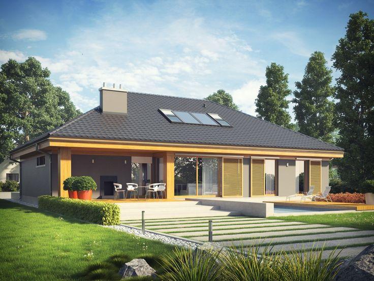 Projekt domu AC Gabriel G1 MULTI-COMFORT - DOM AF7-61 - gotowy projekt domu