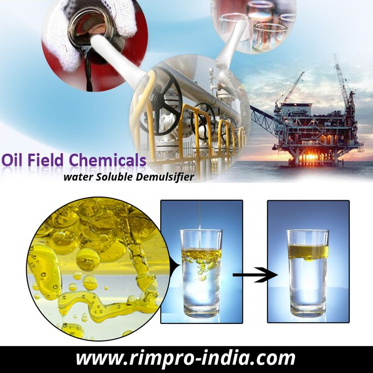 Rimpro India offers top quality oil soluble demulsifiers which are designed to give excellent demulsifying action to separate water and oil from water in oil and oil in water type of emulsions. Our water soluble demulsifier products are totally organic surfactant solutions which can perform at room temperature with improved speed for oil-water separation. Visit at http://www.rimpro-india.com/oil-field-chemicals.html for more details.