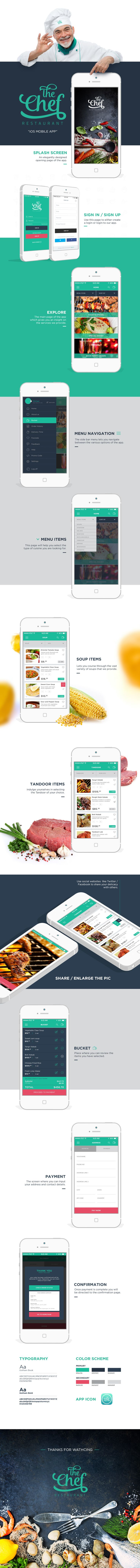 The Chef Restaurant iOS App on Behance #AFSolution #KaosCommunication