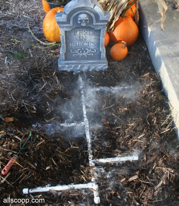 Fog Machine in a Cooler with Buried PVC Pipes - can you use existing irrigation lines...