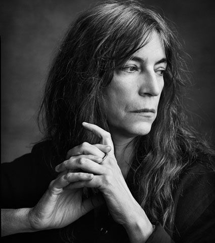 "... Patricia Lee ""Patti"" Smith. American singer, poet and visual artist. Fusionist of rock and poetry. The ""Godmother of Punk"""
