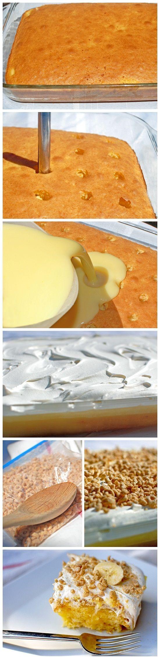 Banana Pudding Poke Cake: