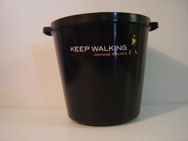 Vinyl mount on ice bucket-Johnny Walker www.logosonstuff.ca