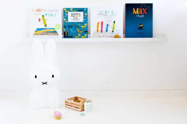 Shelfie with Miffy. Styled by Concrete and Honey for BabyDonkie