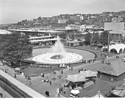 International Fountain at World's Fair, 1962. This appears in more than one scene in Seattle in Shorts.