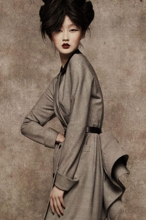 Lili Ji wearing Dior Haute Couture, photographed by Sun Jun forL'Officiel ChinaSeptember 2010