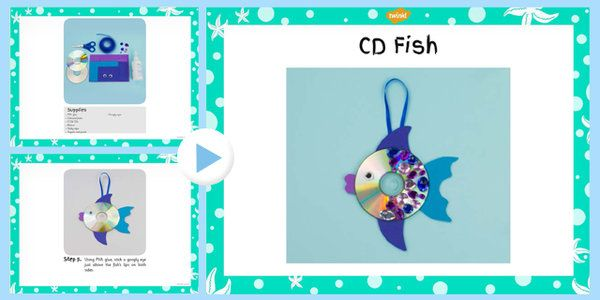 CD Fish Craft Instructions (Under the Sea) - under the sea
