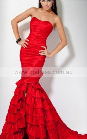 Mermaid Sweetheart Floor-length Satin Natural Evening Dresses gt1468--Hodress
