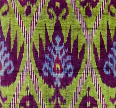 Central Asian Ikats, a fully illustrated introduction to the magnificent ikats of Central Asia by Ruby Clark, is available from the   V Museum Online Shop