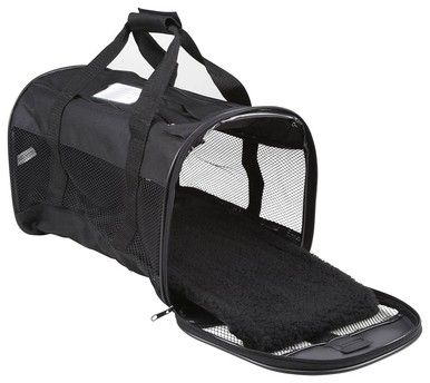 Petmate Soft sided Kennel Cab Dog Pet Carrier Small Black 17x10x10 inch - with Rear Pockets