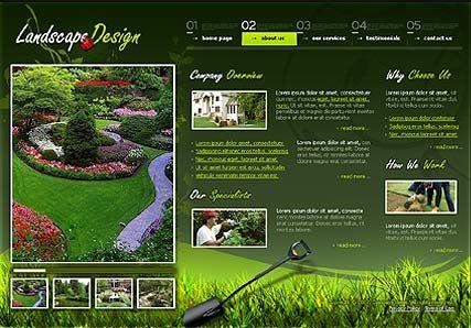Garden Design Template on Landscape Design Flash Template ...