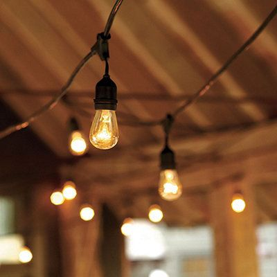 Outdoor string lighting for wedding, party, patio, indoor. Vintage style, 24 edison industrial bulbs
