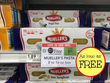 Mueller's Coupon For The Publix BOGO Sale – FREE Pasta!