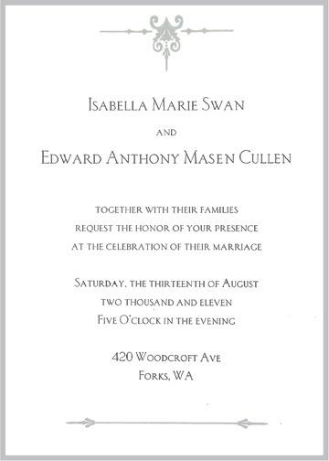 Bella And Edward S Wedding Invitation I Re Created