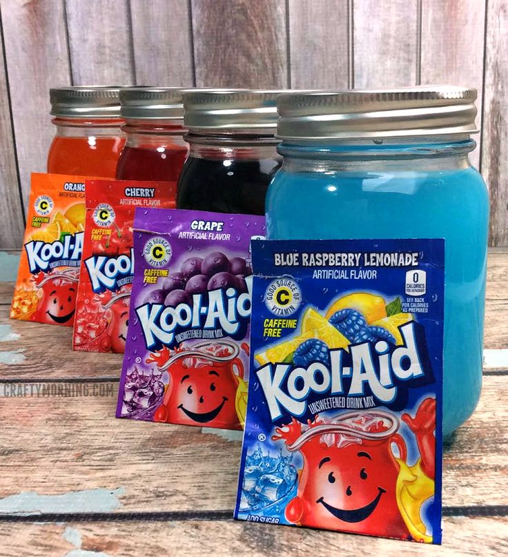 Ingredients: 4 medium 8oz mason jars 4 package of any kool-aid flavor 6 C sugar divided by 4 (1 1/2 C of sugar for each package) 4 C of water (1 C of water per package) Directions Using a medium sauce pan, combine the 1 1/2 C sugar and 1 C water. Bring to a …