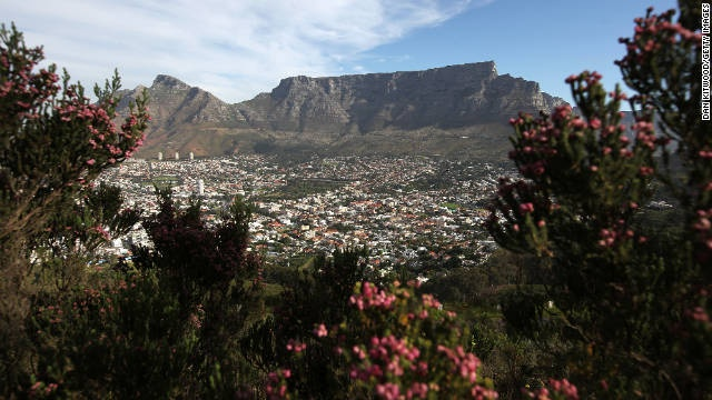 The Table Mountains, South Africa, one of the New 7 wonders.