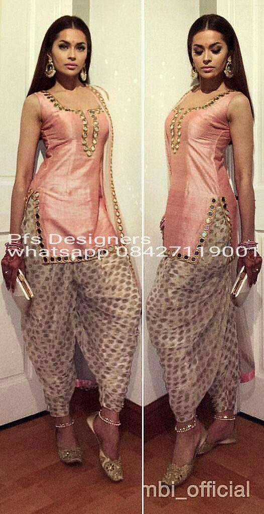 Mirror work with banarsi salwar beautiful creation by Punjab fashion store
