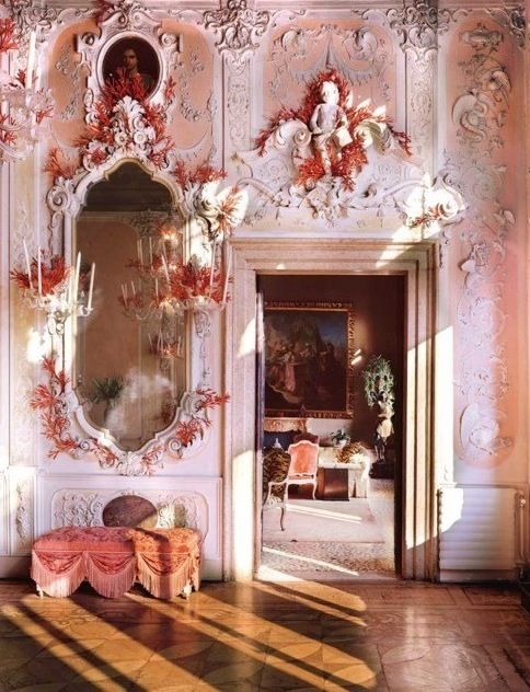 Dodie Rosenkrans Venice Palace Palazzo Brandolini İtaly , Renovated by Tony Duquette.