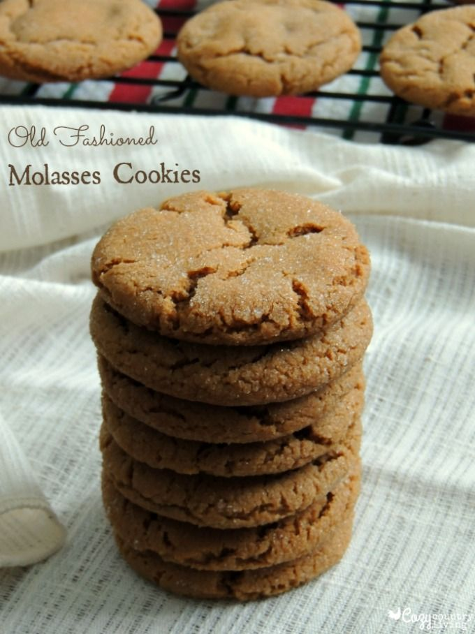 Old Fashioned Molasses Cookies | Cozy Country Living